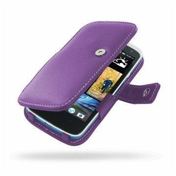 HTC Desire 500 PDair Leather Case 3LHTS5B41 Violetti