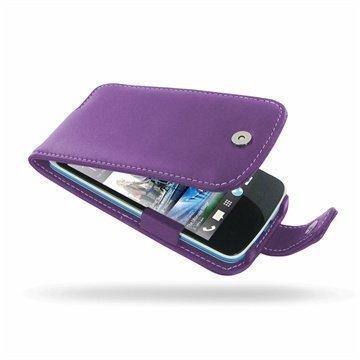 HTC Desire 500 PDair Leather Case 3LHTS5F41 Violetti