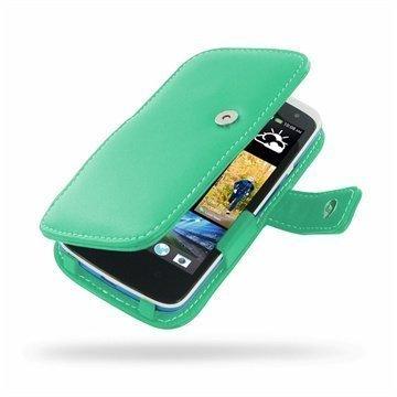 HTC Desire 500 PDair Leather Case 3QHTS5B41 Turkoosi