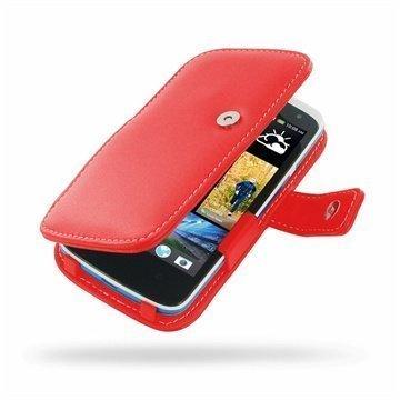 HTC Desire 500 PDair Leather Case 3RHTS5B41 Punainen