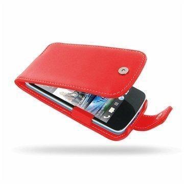 HTC Desire 500 PDair Leather Case 3RHTS5F41 Punainen