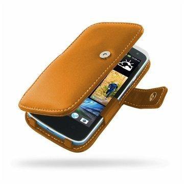 HTC Desire 500 PDair Leather Case 3THTS5B41 Ruskea
