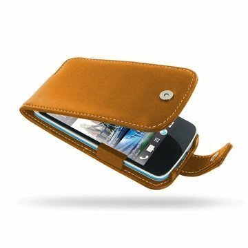 HTC Desire 500 PDair Leather Case 3THTS5F41 Ruskea