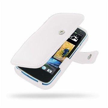 HTC Desire 500 PDair Leather Case 3WHTS5B41 Valkoinen