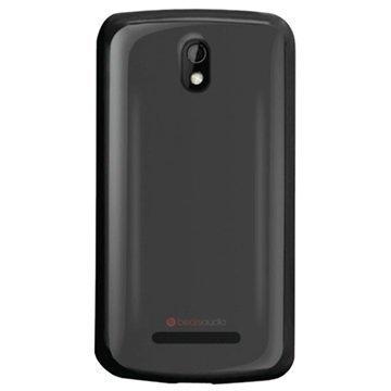 HTC Desire 500 Puro Clear Kotelo Musta