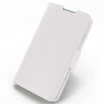 HTC Desire 516 Dual Sim PDair Leather Case NP3WHT16B41 Valkoinen