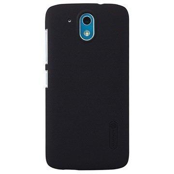 HTC Desire 526G+ dual sim Nillkin Super Frosted Shield Suojakuori Musta