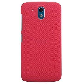 HTC Desire 526G+ dual sim Nillkin Super Frosted Shield Suojakuori Punainen