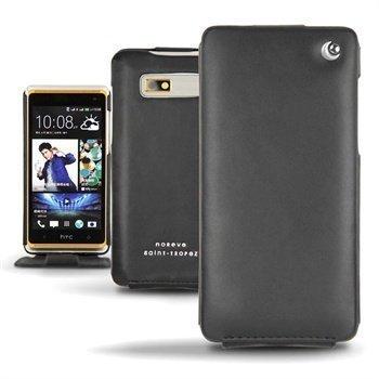 HTC Desire 600 Dual Sim Noreve Tradition Flip Nahkakotelo Musta