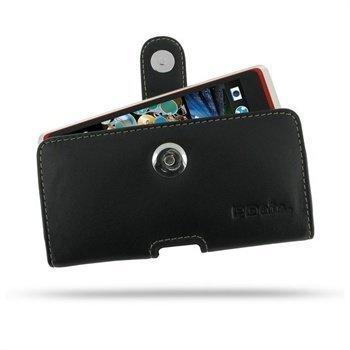 HTC Desire 600 Dual sim PDair Vaakakotelo Nahka Musta