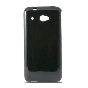 HTC Desire 601 Ksix Flex TPU-Kotelo Musta