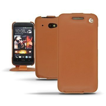 HTC Desire 601 Noreve Tradition Flip Leather Case Brown