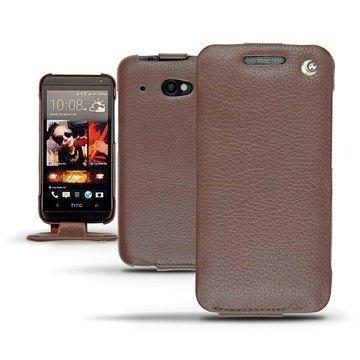 HTC Desire 601 Noreve Tradition Flip Leather Case Chestnut