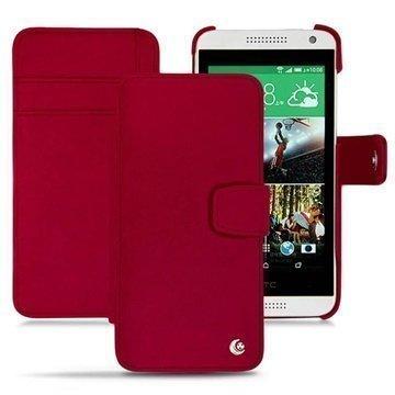 HTC Desire 610 Noreve Tradition B Lompakkomallinen Nahkakotelo Punainen
