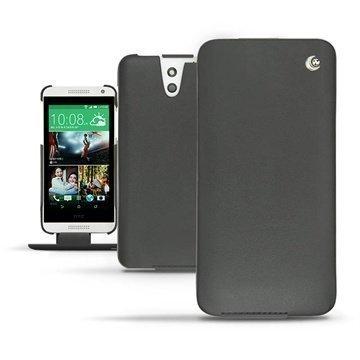 HTC Desire 610 Noreve Tradition Läpällinen Nahkakotelo Musta