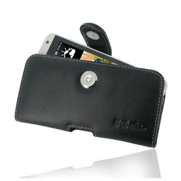 HTC Desire 610 PDair Vaakakotelo Nahka Musta