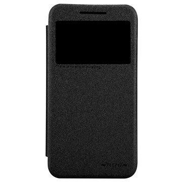 HTC Desire 616 Dual Sim Nillkin Sparkle sarjan Smart Nahkainen Läppäkotelo Musta