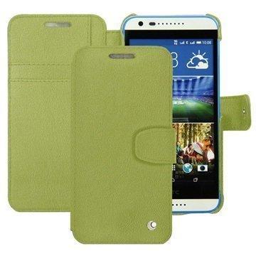 HTC Desire 620 Dual Sim Noreve Tradition B Lompakkomallinen Nahkakotelo Perpétuelle Oliivi Vihreä