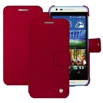 HTC Desire 620 Dual Sim Noreve Tradition B Lompakkomallinen Nahkakotelo Perpétuelle Punainen