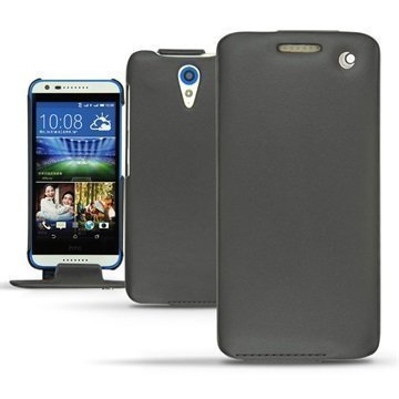 HTC Desire 620 Dual Sim Noreve Tradition Flip Leather Case Perpétuelle Musta
