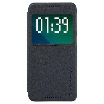 HTC Desire 626 Nillkin Sparkle Series Smart View Läppäkotelo Musta