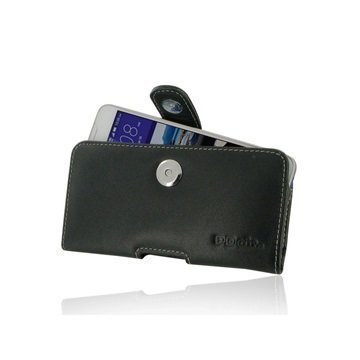 HTC Desire 628 PDair Vaakasuuntainen Nahkakotelo Musta