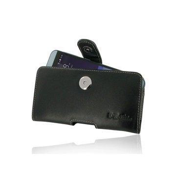 HTC Desire 650 PDair Vaakasuuntainen Nahkakotelo Musta