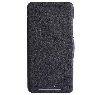 HTC Desire 700 Dual Sim Nillkin Fresh Series Läpällinen Nahkakotelo Musta