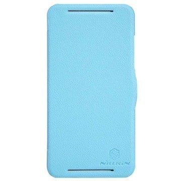 HTC Desire 700 Dual Sim Nillkin Fresh Series Läpällinen Nahkakotelo Sininen