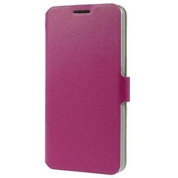 HTC Desire 816 Doormoon Wallet Nahkakotelo Kuuma Pinkki
