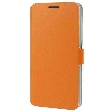 HTC Desire 816 Doormoon Wallet Nahkakotelo Oranssi