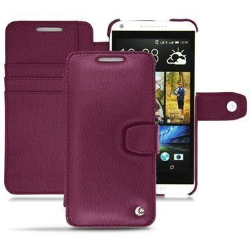 HTC Desire 816 Noreve Tradition B Wallet Leather Case Lie de vin