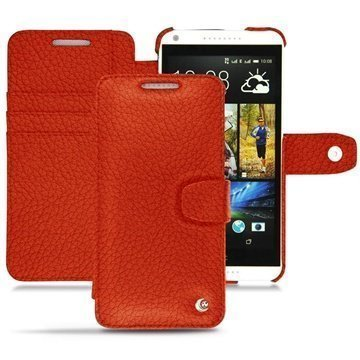 HTC Desire 816 Noreve Tradition B Wallet Leather Case Papaye