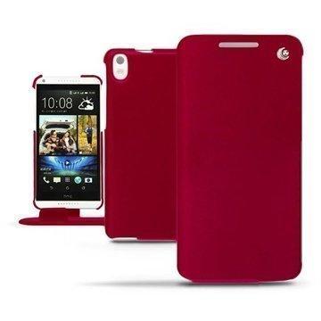 HTC Desire 816 Noreve Tradition Läpällinen Nahkakotelo Punainen