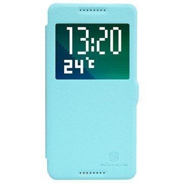 HTC Desire 820 820 dual sim Nillkin Fresh Sarjan Nahkainen Läppäkotelo Sininen