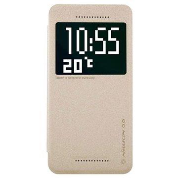 HTC Desire 826 Nillkin Sparkle Series Smart View Läppäkotelo Kulta