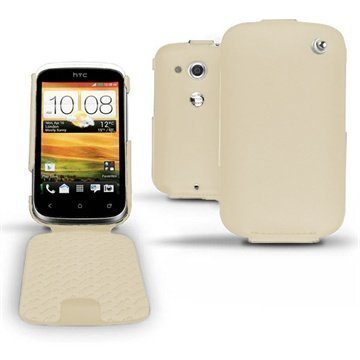 HTC Desire C Noreve Tradition Flip Leather Case Beige