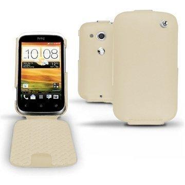 HTC Desire C Noreve Tradition Flip Leather Case Beige