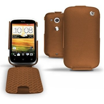 HTC Desire C Noreve Tradition Flip Leather Case Brown