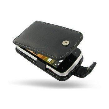 HTC Desire C PDair Leather Case 3BHTDCF41 Musta