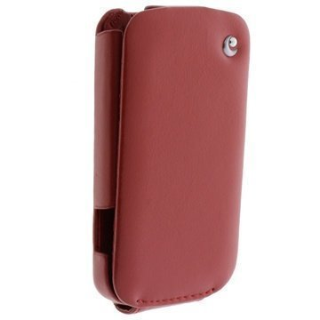 HTC Desire C Tradition Flip Leather Case Red