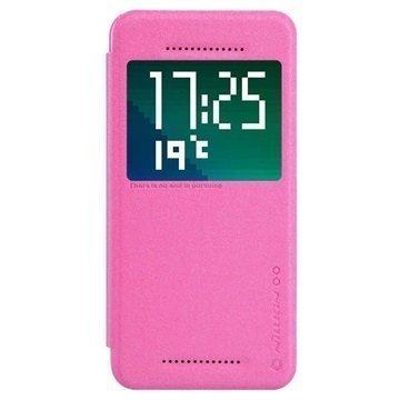 HTC Desire Eye Nillkin Sparkle Series Smart View Flip Nahkakotelo Kuuma Pinkki
