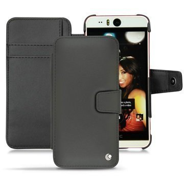 HTC Desire Eye Noreve Tradition B Wallet Nahkakotelo Perpétuelle Musta