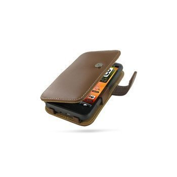HTC Desire HD PDair Leather Case 3THTEHB41 Ruskea