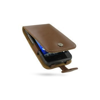 HTC Desire HD PDair Leather Case 3THTEHF41 Ruskea