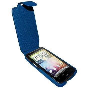 HTC Desire HD Piel Frama iMagnum Nahkakotelo Sininen