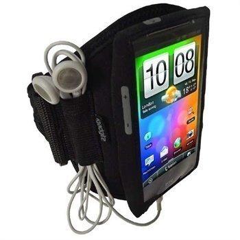 HTC Desire HD iGadgitz Urheilukotelo Käsivarteen Musta