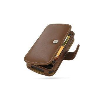 HTC Desire PDair Leather Case 3THTDEB41 Ruskea