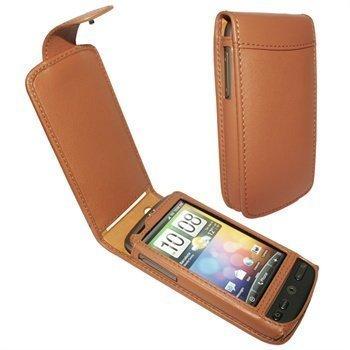 HTC Desire Piel Frama Classic Nahkakotelo Ruskea