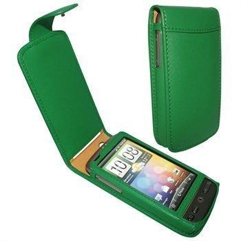 HTC Desire Piel Frama Classic Nahkakotelo Vihreä